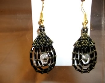 Droplet Earrings  olive