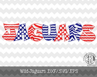 Wild Jaguar INSTANT DOWNLOAD in dxf/svg/eps for use with programs such as Silhouette Studio and Cricut Design Space