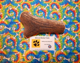 "Organic Jumbo Elk Antler Dog Chew ""Made in Montana"" (Lot P3)"