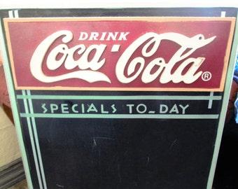 Coca Cola Restaurant Style Menu/Chalkboard.  Y-323