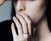 Minimalist silver ring, simple ring, modern design ring