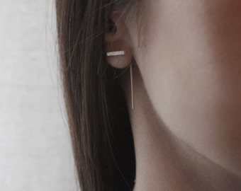 Minimal modern line earrings // SM010