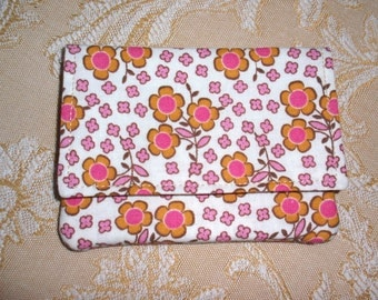 Small Fabric Soft Wallet Cherry Blossom Print