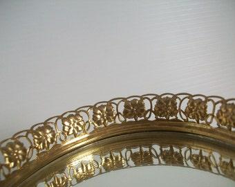 vintage gold filigree vanity . vintage vanity. filigree cherub lipstick holder metal filigree