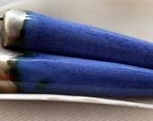 Bronzy Crackle Porcelain Spikes Dark Lavender