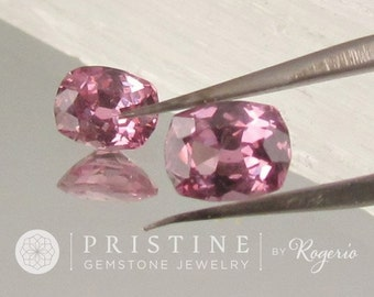 Purplish Pink Spinel  Cushion Shape Matching Pair for Earrings or Fine Jewelry Loose Gemstones