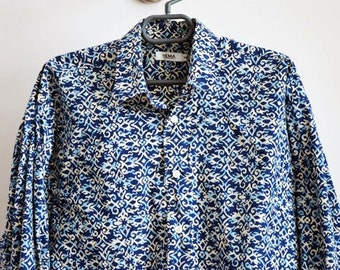 Vintage Mens Cotton Shirt  - Size M-L