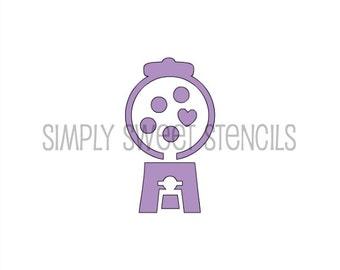 Gum Ball Machine Stencil
