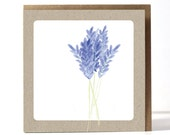 Lavender / Greeting Card / Flower Card / Botanical Card / Simple Card / Sympathie Card / With Love Card /  With Envelope