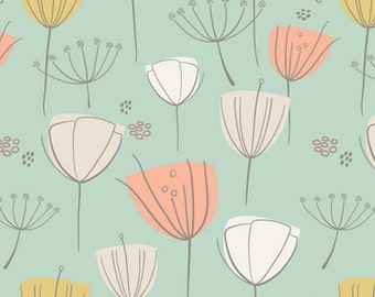 END of BOLT ~ 17 in ~ Art Gallery Floral Frolic Apricot Tulips The Littlest by Art Gallery Fabrics Sale