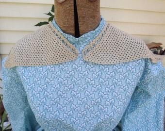 Vintage Ecru Crocheted Collar Reenacting Collar Civil War Collar