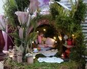 Fairy Cottage ~ Wildflower Pink Basket Cottage