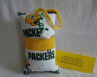 Tooth Fairy Pillow with tooth holder: Toothfairypillow, Plastic tooth holder, Green, Gold, Helmets, Football, Tooth, Fairy