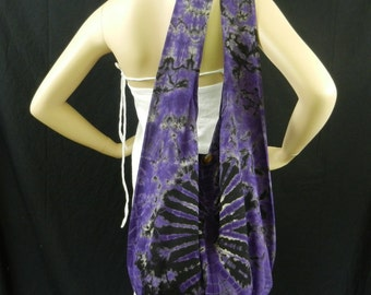 Purple Tie Dye Bag Purse Sling Messenger Crossbody Buddha Hobo Hippie Celebrity Top Zip OAK Firework VJ4