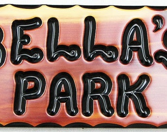 "CedarCutts Rustic Custom Carved 6"" x 12"" x 1"" Red Cedar Wood Sign"