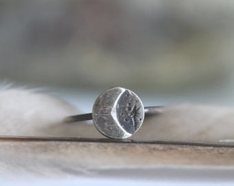 Luna Light Ring . Sterling Silver Moon Ring