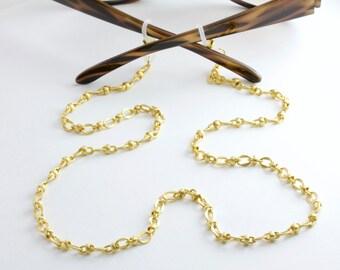Turkish Gold Eyeglass Chain, Glasses Chain, Lanyard, Eyeglass Holder Necklace, Eye glass Chain, Eyewear, Sunglasses,Reading Glasses, For Her