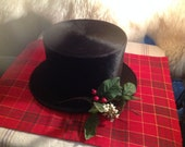 Early 1900,s beaver skin top hat steampunk Christmas display