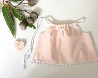 Pastel Pink Pom Pom Baby Crop