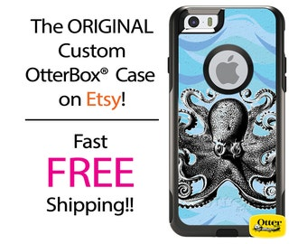 iPhone OtterBox Commuter Case for iPhone 7, 7 Plus, 6/6s, 6 Plus/6s Plus, 5/5s/SE, 5c Galaxy S7 S6 S5 Note 5 Custom Octopus Ocean Waves Cell