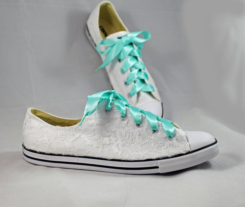 bridal converses lace converse wedding tennis shoes