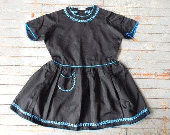 Vintage 1920s-30s Taffeta Girls Party Dress