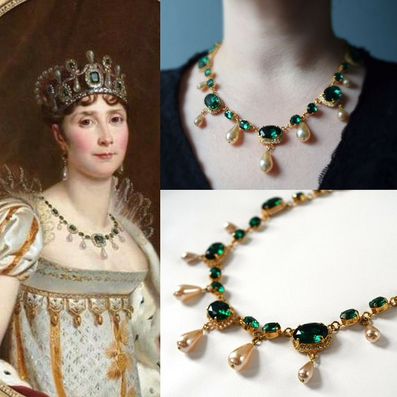 Empress Josephine Emerald Necklace 19th Century Jewelry