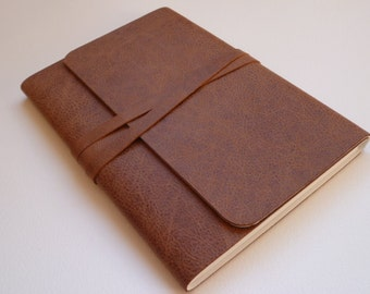 Leather Sketchbook. Travel Journal. Leather Notebook Leather Book. Speckled Brown Leather with an Antique Appearance.