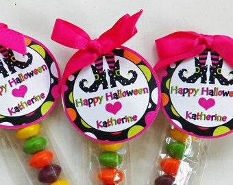Personalized Halloween Witch Feet Printable - ANY Wording - Printable or Printed with FREE SHIPPING - Wicked Halloween Collection