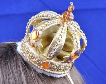 Golden Crown Fascinator