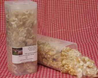 White Leicester Longwool Locks for Spinning or Crafting from a PA Century Farm