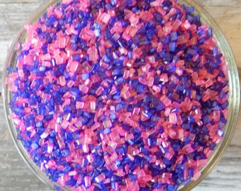 Sprinkles, 3 oz - Purple and Pink Shiny Sugar Crystals Mix - For Cupcakes - Cake Pops - Cookies - Dipped Pretzels - Cakes - Edible Crystals