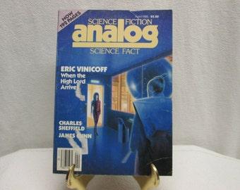 Analog Science Fiction Science Fact, April 1985 eric vinicoff, charles sheffield, james gunn, paperback book magazine