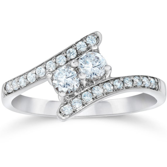 two stone diamond ring forever us diamond engagement ring. Black Bedroom Furniture Sets. Home Design Ideas