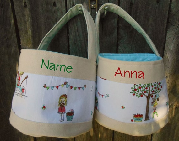 Ready to ship handmade personalized easter basket girl with - Custom made easter baskets ...