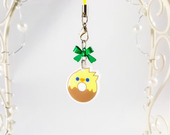 Planner Charm - Chocobo Charm - Final Fantasy Charm - Kawaii Charm - Anime Charm - Food Charm - Dessert Phone Charm - Acrylic Phone Charm