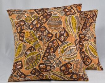 Vintage Pillow Cover, Handmade Pillow, Cushion Cover, Mid Century Pillow, Geometric Pillow, Decorative Pillow - 16 Inch Pillow - PC8