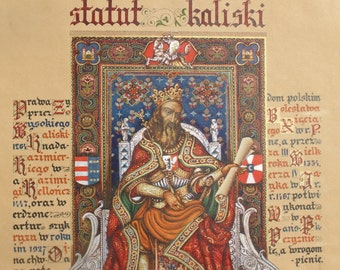 Arthur Szyk page from the Statue of Kalisz folio