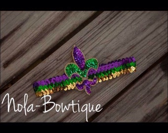 Adult Size Mardi Gras Headband, Mardi Gras Outfit, New Orleans