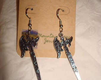 Metal Axe Earrings