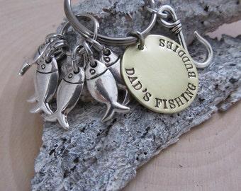 Men's Keychain, Fathers Day Gift, Fish Keychain, Personalized gift, Fisherman Gift, Fishing Gift, Fishing, Gone Fishing, Fishing Hook