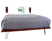 Platform Bed And Headboard Queen Size On Hairpin Legs SALE ITEM