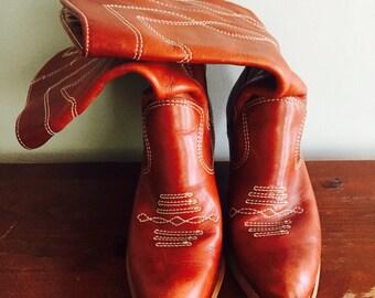 Vintage cowboy boots//ladies boots sz 6.5