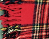 Faribo pure wool throw red plaid