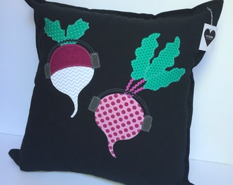 "Turnip the Beet 20"" x 20"" Throw Pillow Cover"