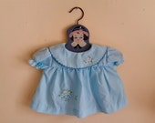 Use CODE50 for 50% OFF Vintage Blue Newborn Baby Dress, 1980s, 0-3 months, or Vintage Doll Dress