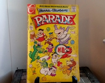 Use CODE50 for 50% OFF Vintage Hanna Barbera Comic, Parade, No. 1 Sept., 1971, Charlton Comics, The Flintstones