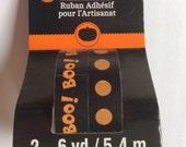 Washi Tape 2 Rolls 6 yards ea =12yd total Adhesive Craft crafts Halloween cards scrapbooking Pattern BOO Polka Dots Dot black orange font