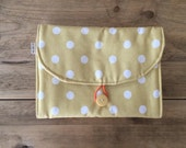 Travel Changing Pad - Diapering on the Go - Saffron Yellow with White Dots
