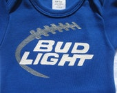 Daddy's Drinking Buddy,Bud Light Beer , Beer Belly Onesie, New Dad Gift, Funny Baby Shower Gift,Sunday Funday Football,Personalized